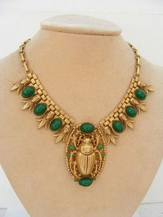 ASKEW LONDON EGYPTIAN SCARAB NECKLACE