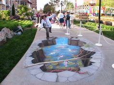 3D illusion steet art by julian beever