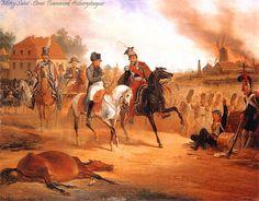 Napoleon and Poniatowski at Leipzig, 18 Oct 1813 by January Suchodolski.
