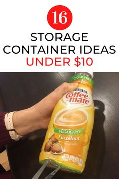 Repurpose old food containers around your home for quick storage around your home. Upcycle old milk and creamer containers to make these simple storage for your house. #hometalk Homemade Storage, Diy Storage, Storage Ideas, Food Containers, Storage Containers, Spray Painted Bottles, Prescription Bottles, Bottle Painting, Spray Painting