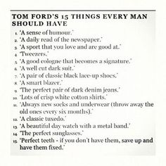 Tom Ford's List//