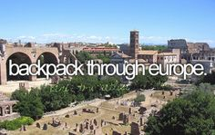backpack thru europe