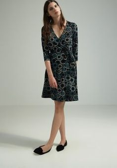 Anna Field - Vestido de algodón - black/blue