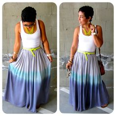 Ombre Dyed Maxi