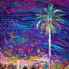 Colorful Starry Rickshaw Fabric Design – Fubiz Media