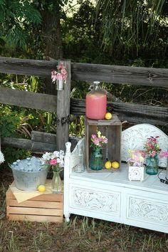 Flowers in mason jars.