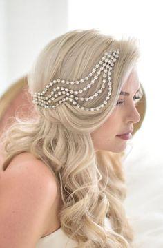 Lovely Clusters - Beautiful Shops: Unique Wedding Veil Alternative, Modern bridal headpiece