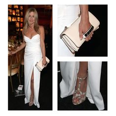 Jennifer Aniston in white Burberry gown