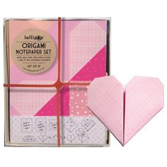 Valentine's Day gifts for kids: Hearts Origami Notepaper Set