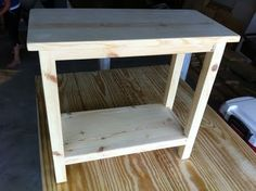 The Quaint Cottage: DIY Simple End Table for Small Spaces How to make a narrow end table.