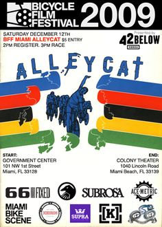 The Miami Bike Scene: Bicycle Film Festival : Alley Cat Race 12/12/09