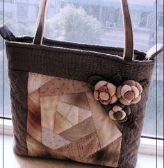 Patchwork Bags, Quilted Bag, Japanese Bag, Bagan, Purses And Bags, Applique, Reusable Tote Bags, Quilts, Wallet
