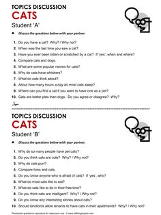 Cats, English, Learning English, Vocabulary, ESL, English Phrases, http://www.allthingstopics.com/cats.html