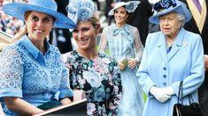 Royal Family shock as women all choose blue shades for Royal Ascot 2019 - The World News Daily Ascot Dress Code, Ascot Dresses, Morning Dress, Wide Brimmed Hats, British Monarchy, Royal Ascot, Duchess Of Cambridge, Dress Codes, Royals