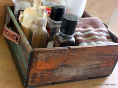 """Beyond The Picket Fence: Another Box? Yep!...pallet wood box with """"belt loop"""" handle."""