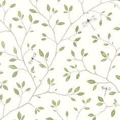 florale Tapete FELIX grün von Sandberg