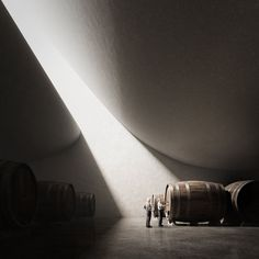 Peter Zumthor - Domino de Pingus winery by - Architecture and Home Decor - Bedroom - Bathroom - Kitchen And Living Room Interior Design Decorating Ideas - Architecture Ombre, Shadow Architecture, Light Architecture, Interior Architecture, Rendering Architecture, Architecture Diagrams, Minimalist Architecture, Architecture Portfolio, Ancient Architecture