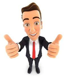 Compra imágenes y fotos : 3d hombre de negocios con los pulgares para arriba, fondo blanco aislado Image 48779696. Cartoon Character Pictures, Cute Cartoon Pictures, 3d Character, Cartoon Characters, Character Design, Teacher Cartoon, 3d Man, Funny Emoji, Animation