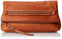 FRYE Jenny Foldover Clutch, Whiskey, One Size. Fold-over clutch with braided strap at center front featuring full zipper with braided-tassel pull. Foldover Clutch, Clutch Purse, Leather Clutch, Leather Purses, Clutch Handbags, Clutch Pattern, Buy Handbags Online, Frye Boots, Backpacks