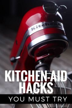 15 Kitchen Aid Hacks You MUST Try There are so many different things you can do with a Kitchen Aid Mixer, beside baking. Read 15 Kitchen Aid Hacks You Must try to find other ways to use your Kitchen Aid Mixer. Kitchen Aid Recipes, Kitchen Hacks, Kitchen Gadgets, Kitchen Tools, Kitchen Things, Kitchen Decor, Kitchen Design, Kitchen Appliances, Kitchen Aid Mixer Attachments