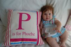 Personalized pillow, Miss Phoebe.