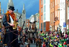 Incredible atmosphere at the St Patrick's Day Parade, Dublin
