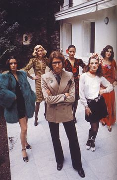 YSL (Yves Saint Laurent) and models.