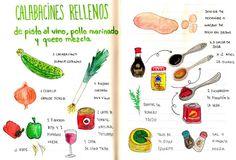 Gastro Andalusi: Calabacines blancos rellenos de pisto con vino tinto y pollo marinado