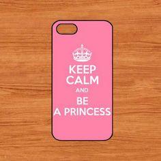 no.151 iphone 5  hard case-keep calm and be a princess