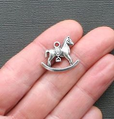 6 Rocking Horse Charm Antique Tibetan Silver by BohemianFindings, $2.50