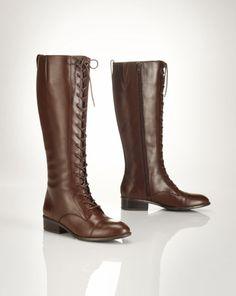 Leather Marla Riding Boot - Lauren Boots - RalphLauren.com