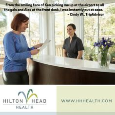 Want to learn more about Hilton Head Health? Read a real review from a real H3 guest.