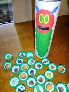 Die Raupe Nimmersatt - mithilfe der Erzählsteine können die Kinder die Geschichte spielerisch nacherzählen!