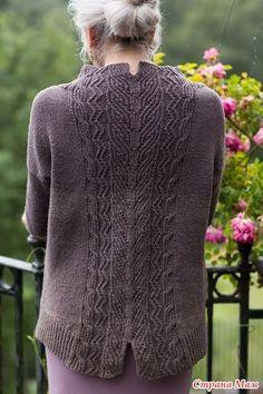 Вязание спицами пуловера с узором на спине Tevara by Paula Pereira - Вяжем вместе он-лайн - Страна Мам