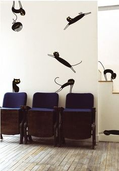 Коты в декоре стен(трафик) / Декор стен /