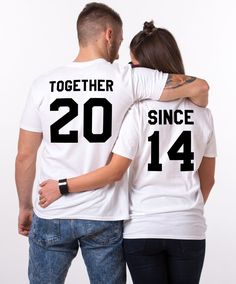 Tshirt couple Together since (lot de 2)