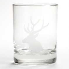 One of my favorite discoveries at WorldMarket.com: Etched Stag Double Old Fashioned Glasses, Set of 2