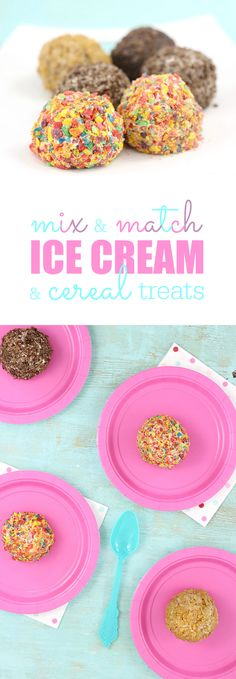 Ice Cream Cereal Treats. Roll your favorite ice cream in crushed cereal for an out of this world easy treat. #SweetTreatSavings AD