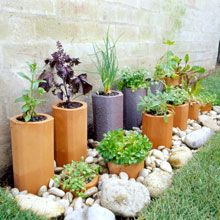 create both a unique feature and a thriving garden even in the smallest of spaces with terracotta pipes