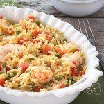 http://www.cookingonthefrontburners.com/2015/03/lemon-orzo-shrimp-bake.html