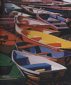 The Dories of Maine by Lewis T Johnson is shown here in a Ravensburger 1000 Piece Jigsaw Puzzle. #boats