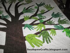 Southpaw Crafts: Handprint Family Tree Quilt