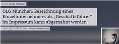 Achtung #Einzelunternehmer #Impressum: Nennen Sie sich Geschäftsführer nur, wenn Sie rechtlich einer sind!  Kann heftige Konsequenzen haben http://www.it-recht-kanzlei.de/impressum-geschaeftsfuehrer.html
