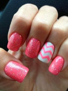 Sweety pink french nails