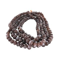 "MOONSTONE BEADS Faceted Rondelle Chocolate 8-20mm 16"" from New World Gems"