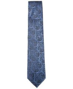Countess Mara Men's Howard Paisley Tie - Blue