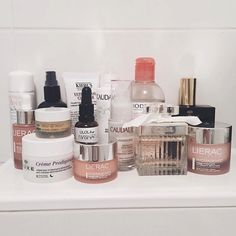 """7,197 Likes, 33 Comments - Into The Gloss (@intothegloss) on Instagram: """"The consummate French #itgtopshelfie, from the bathroom of @chicfee """""""