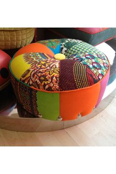 African Inspired Seat Cushion for my Home. Available on Etsy.
