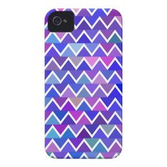 Blue Zigzag Pattern Case-Mate iPhone 4 Case
