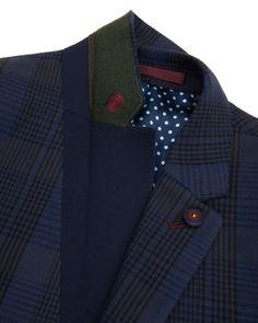 Check blazer - Blue | Blazers | Ted Baker